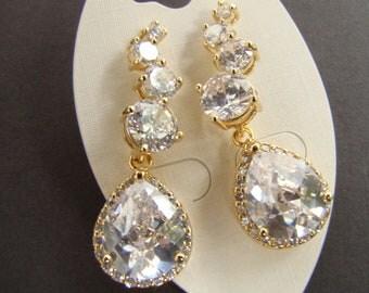 drop dangle earrings, sparkly, zircon teardrop earrings, 7PM boutique