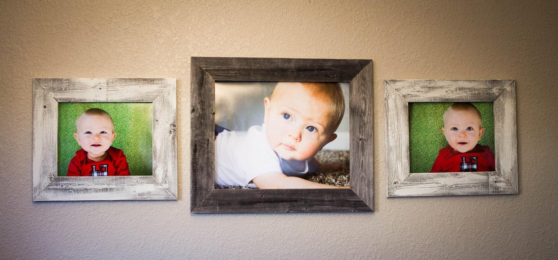 barnwood picture frames set of 3 16 x 20 and 2 11x14s. Black Bedroom Furniture Sets. Home Design Ideas