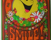 SMILE Poster, 1971 Vintage Collectible
