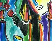 Shabbat Candle Lighting 16 x 20
