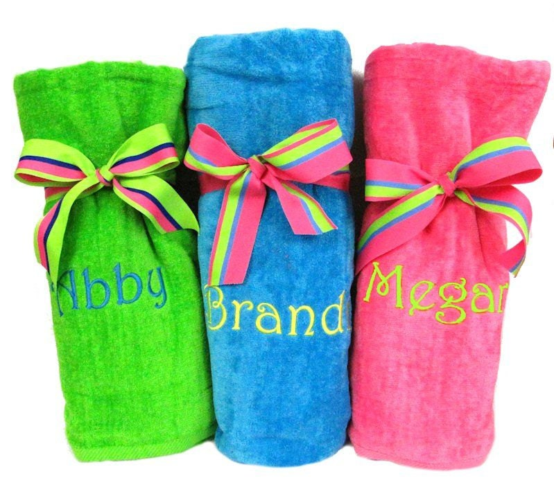 Monogrammed Beach Towels Personalized Beach By
