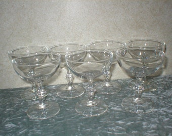 7 - 1950's Set of  Wine Glasses