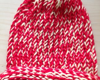 Red and Yellow Winter Hat