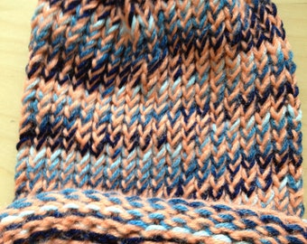 Orange and Blue Winter Hat