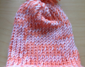 Orange and White Winter Hat
