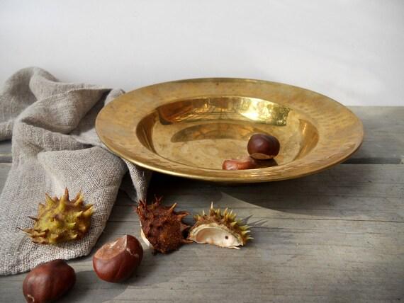 RESERVED KM Vintage Brass Bowl Candle Dish Copper Home Decor Copper dish Swedish Vintage Christmas decor