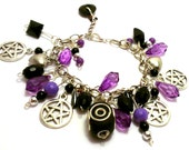 Custom Charm Bracelet - Choose your own colours, charms, beads & buttons