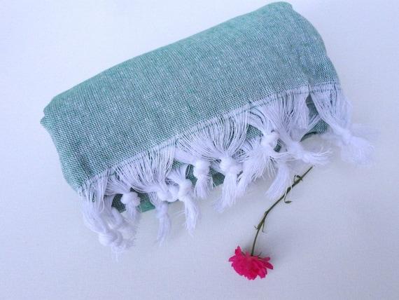 Bath Towel ,hamam,peshtemal,bath towel, Traditional,Turkish towel,green,hamam towel, Eco-friendly, Natural Cotton,