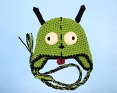 Gir Earflap Hat. (Any Sizes: Newborn to Adult). Please send the size.