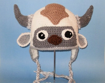 Crochet Pattern PDF Flying Bison Hat. Beanie and Earflap. (All Sizes Included: Newborn to Adult). Permission to sell finished items.