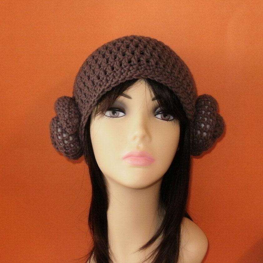 Crochet Pattern Princess Leia Hat : Crochet Pattern PDF Princess Leia Hat. Beanie. All Sizes