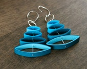 Paper Anniversary Gift for Her / Lightweight Earrings / Paper Jewelry / Eco Friendly Jewelry / 1st anniversary gift for her - Mobi