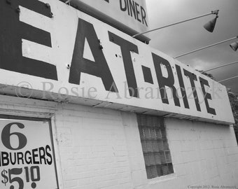 EAT-RITE Diner, St. Louis, MO Photo, Art Print (By Rosie Abramczyk)