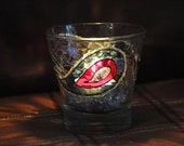 "Hand painted  candle holder ""Eye drop"" ."