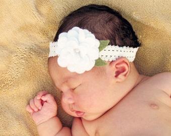 Felt Baby Headband.Felt Headband.Baby Headband.Newborn Headband.Lace Headband.Felt Flower Headband.Baby Headbands Felt.Eco Friendly Felt.Eco