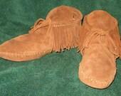 Custom Made Handmade Native American Style Southwestern Leather Moccasins