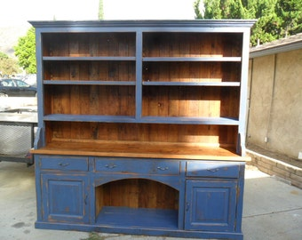 Reclaimed Wood Pine Kitchen Hutch USA Made