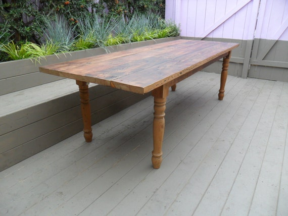 Reclaimed wood pine dining table usa made from reclaimed wood