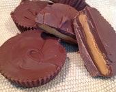 6 Large Vegan Gluten Free Peanut Butter Cups - 1/2 Dozen - High Hopes Vegan Bakery