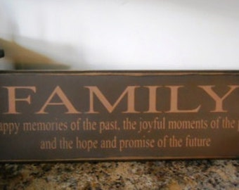 Family the happy memories of the past primitive sign