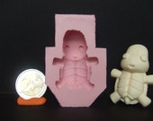 """Kawaii Chibi """"Baby Turtle"""" Flexible Silicone Cabochon Push Mold For Polymer Clay (Sculpey/Fimo) Or Resin."""