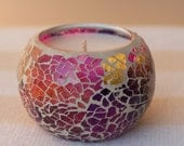 Multicoloured Mosaic Soy Candle - in any of our baking scents - FREE shipping