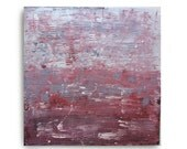 Abstract Modern Canvas Painting, Title :Renewed  (20X20 INCH), Red, Blue and White
