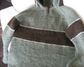 Child's Pullover HOODIE as shown or in custom colors and yarns