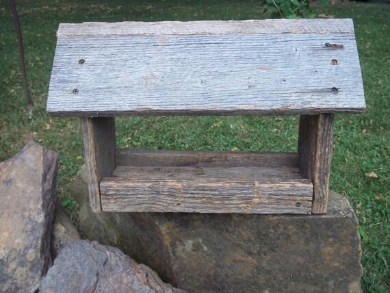 Handmade barn wood bird feeder for Unique homemade bird feeders