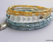 Serenity at the Beach - A Memory Wire Bracelet