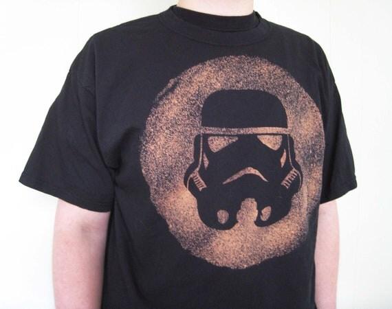 Hand bleached Stormtrooper helmet t-shirt