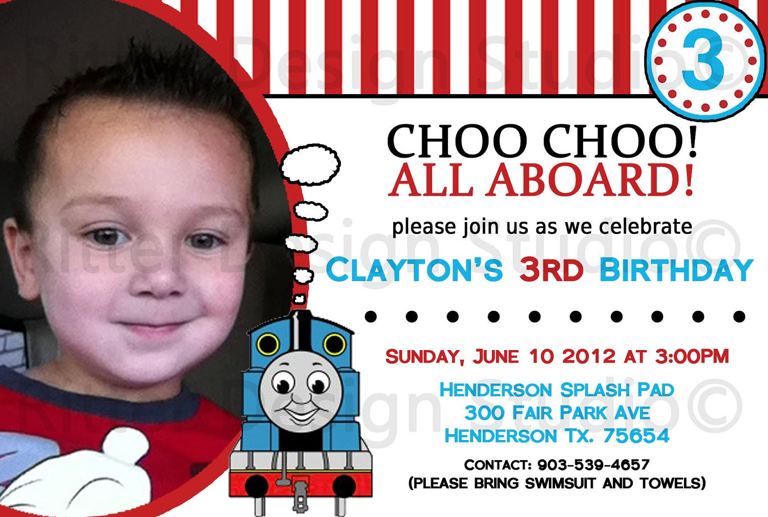 Thomas Birthday Invitations can inspire you to create best invitation template