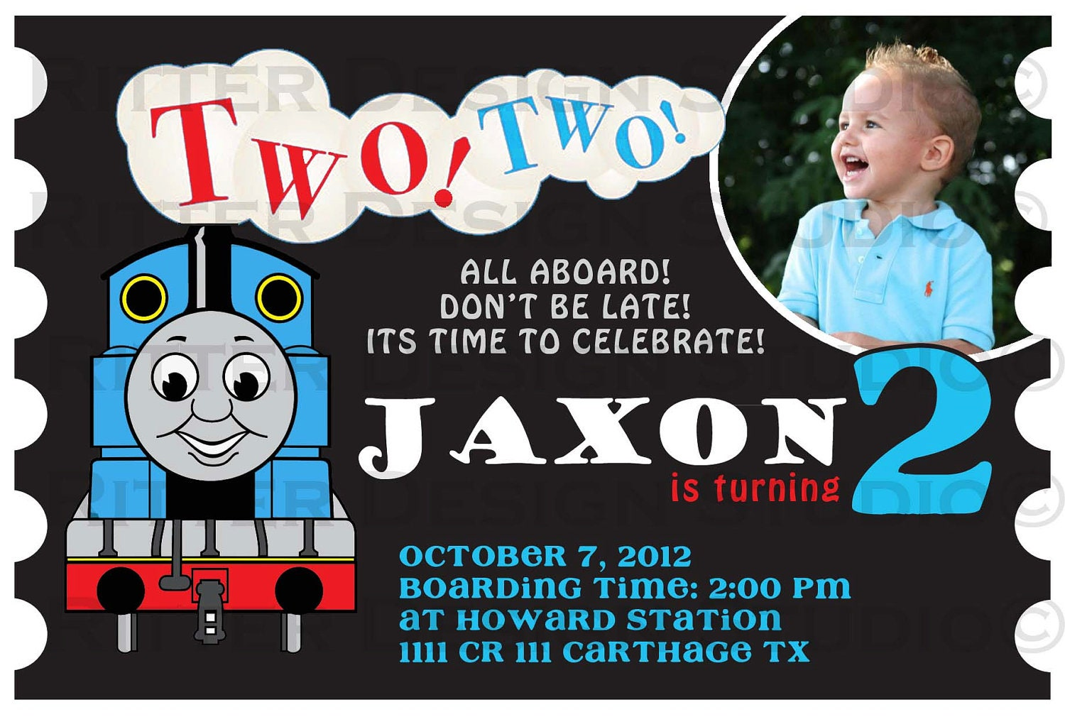 Thomas Birthday Invitations for your inspiration to make invitation template look beautiful