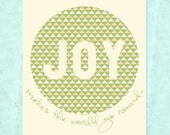 Joy Makes the World Go Round (Green) 8x10 Printable Print