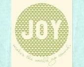 Joy Makes the World Go Round (Green) 8x10 Printable Print