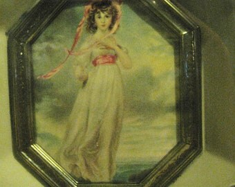 "Vintage ""Pinkie  "" by by Thomas Lawrence print Victorian Art"