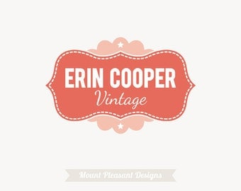 Premade logo design - Retro logo design - small business logo design - photography logo design & watermark