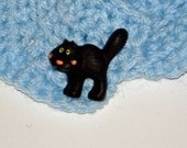 Ruffle Kitty Fashion Accent Scarf in Light Blue