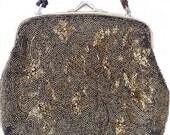 Vintage Bronze Beaded Handbag