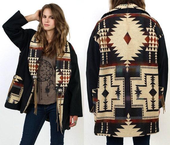 Southwestern Decor From H M: SouthWestern Blanket Navajo Tribal Cotton By MamaStoneVintage
