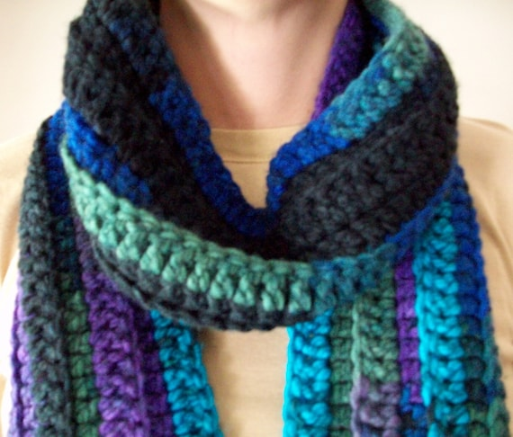 CROCHETED RIBBED SCARF