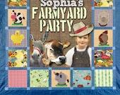 Farmyard Party Printable invitation - with Photo
