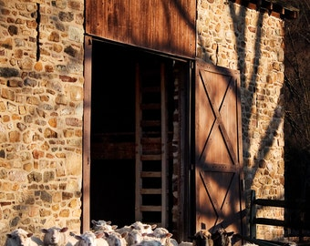 Rural Photography - Sheep Barn, New Hope, Pennsylvania -  8x12