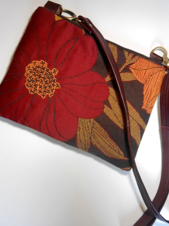 iPad bag/sleeve/ cover or purse in rich fall color print. Free shipping