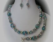 CT-24-1850-Jewelry-Blue Glass/Silver (Necklace, Bracelet, Earrings)