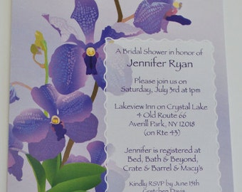Orchid Shower Invitation