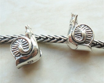 SNAIL - 925 Sterling Silver BHB Charm Fits All European Style Systems