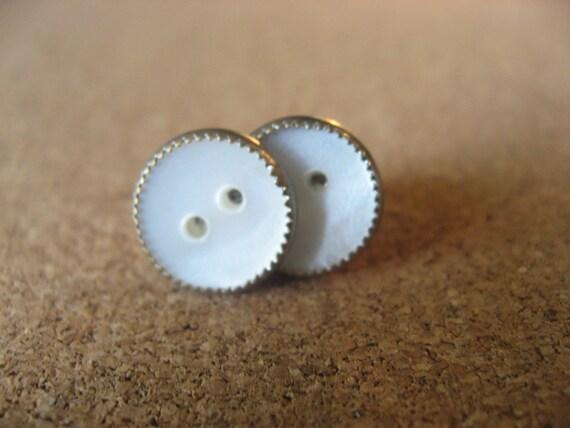 Metallically Sweet Button Earrings
