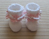 Number 1-57 PDF Knitting and Crochet Pattern Baby Booties  3-6 months
