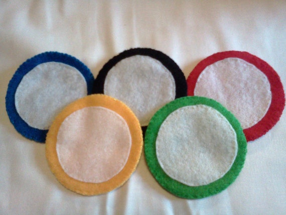 Handmade Olympic Rings Coaster Set